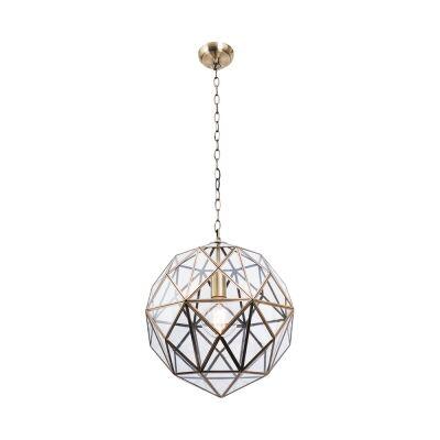 Medici Metal & Glass Pendant Light, Small