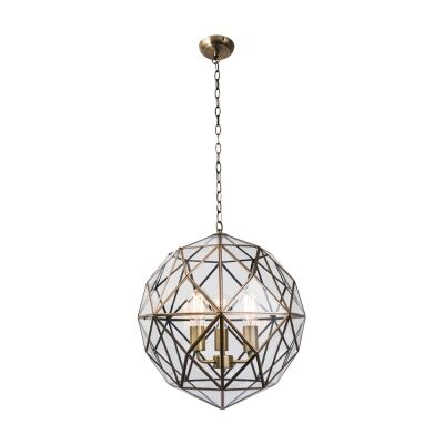Medici Metal & Glass Pendant Light, Large