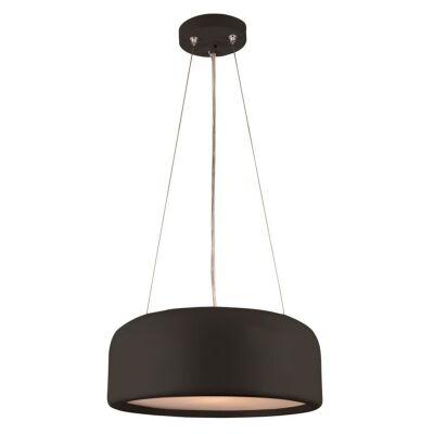 Porto Metal Round Pendant Light, Small, Black