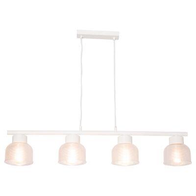 Harvard Holophane Glass Pendant Bar Light, 4 Light