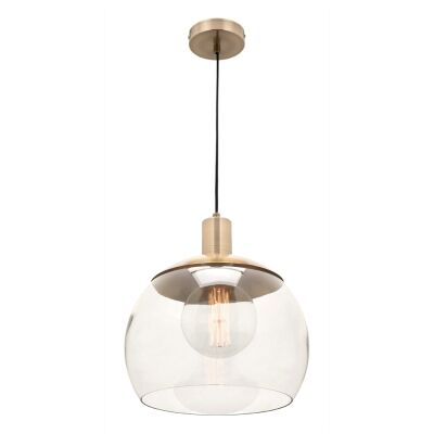 Tammy Metal & Glass Pendant Light, Large, Brass