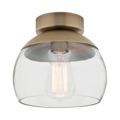 Tammy Metal & Glass DIY Batten Fix Ceiling Light, Brass