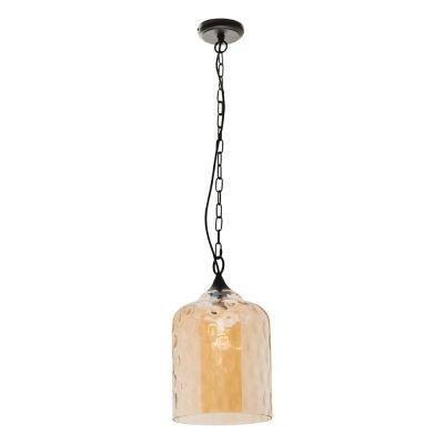Southport Glass Pendant Light, Small, Cognac