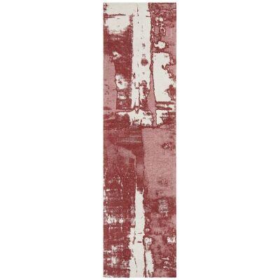 Magnolia Gloria Cotton Chenille Runner Rug, 80x500cm, Rose