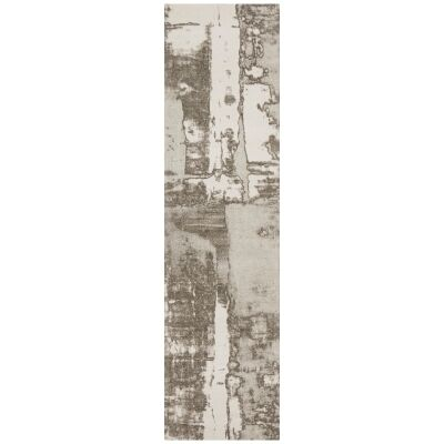 Magnolia Gloria Cotton Chenille Runner Rug, 80x400cm, Silver