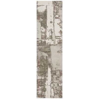 Magnolia Gloria Cotton Chenille Runner Rug, 80x500cm, Silver