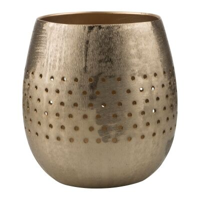 Bromley Aluminium Votive, Large, Dark Gold