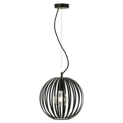 Midori Metal Sphere Pendant Light, 30cm, Black