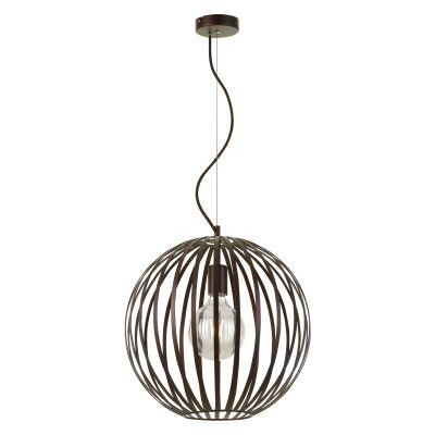Midori Metal Sphere Pendant Light, 40cm, Bronze