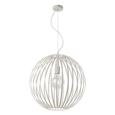 Midori Metal Sphere Pendant Light, 50cm, White