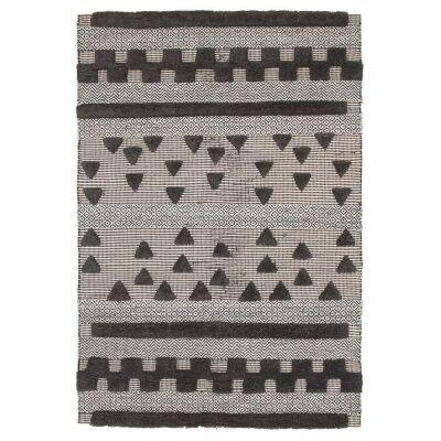 Rhythm Swing Hand Loomed Wool Rug, 155x225cm, Charcoal