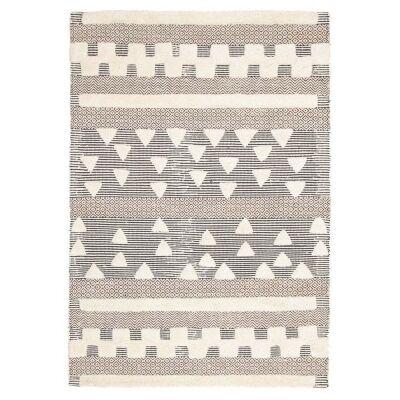 Rhythm Swing Hand Loomed Wool Rug, 155x225cm, Ivory