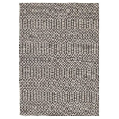 Rhythm Tune Hand Loomed Wool & Cotton Rug, 155x225cm, Grey