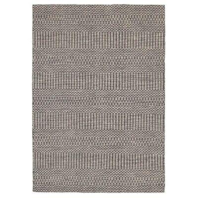 Rhythm Tune Hand Loomed Wool & Cotton Rug, 190x280cm, Grey