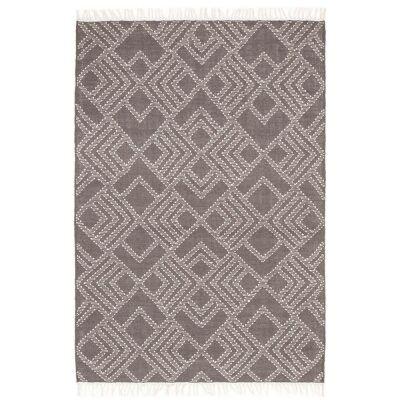 Rhythm Symphony Hand Loomed Wool Rug, 155x225cm, Grey