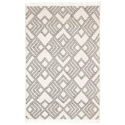 Rhythm Symphony Hand Loomed Wool Rug, 190x280cm, White