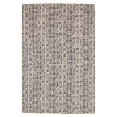 Rhythm Lyric Hand Loomed Wool & Cotton Rug, 155x225cm, Grey