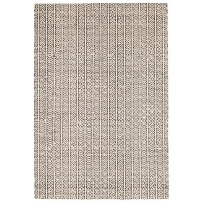 Rhythm Lyric Hand Loomed Wool & Cotton Rug, 155x225cm, Natural