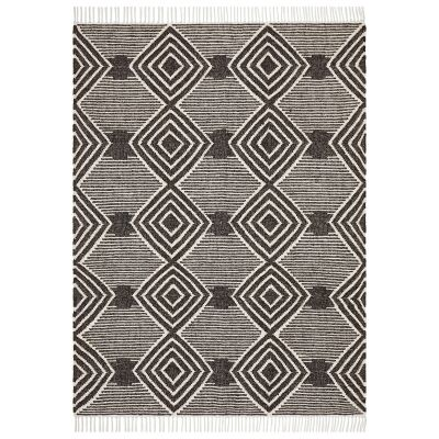 Rhythm Kirin Hand Loomed Wool Rug, 230x320cm, Charcoal