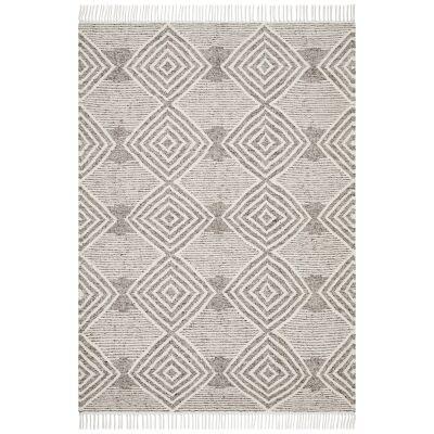 Rhythm Kirin Hand Loomed Wool Rug, 155x225cm, Grey