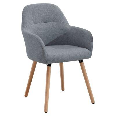 Milan Fabric Dining Chair, Grey