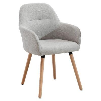 Milan Fabric Dining Chair, Light Grey