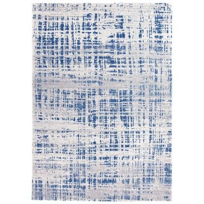 Mirage Ashley Abstract Modern Rug, 240x330cm, Navy