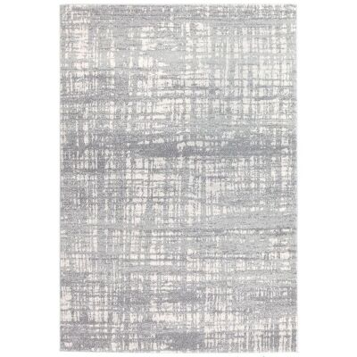 Mirage Ashley Abstract Modern Rug, 200x290cm, Silver