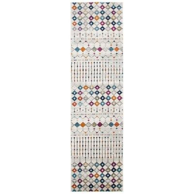 Mirage Peggy Tribal Morrocan Runner Rug, 80x400cm