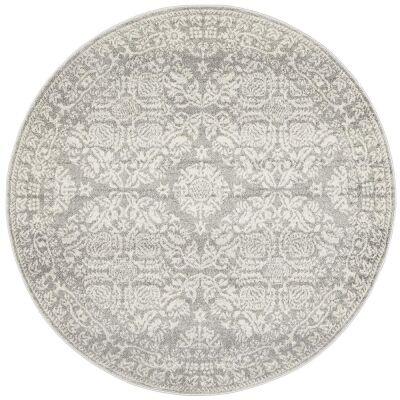 Mirage Gwyneth Transitional Round Rug, 150cm, Silver