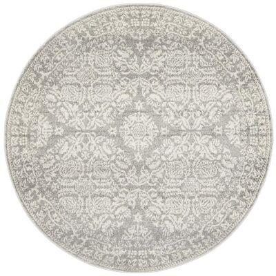Mirage Gwyneth Transitional Round Rug, 200cm, Silver