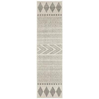 Mirage Adani Modern Tribal Runner Rug, 80x500cm, Grey