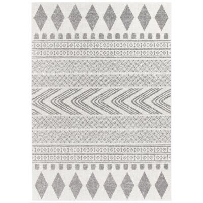 Mirage Adani Modern Tribal Rug, 200x290cm, Grey
