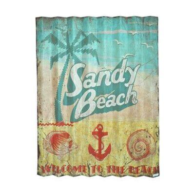 Sandy Beach Corrugated Iron Wall Decor