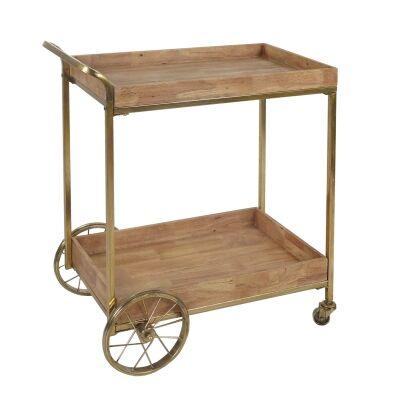 Luxe Timber & Iron Drinks Cart