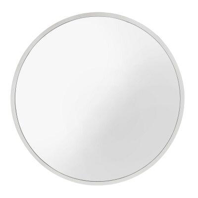Neesa Metal Frame Round Wall Mirror, 90cm