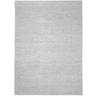 Modern Berber Handwoven Wool Rug, 230x170cm, Whiteout