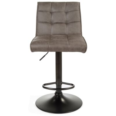 Cheswick Fabric & Metal Gas Lift Counter / Bar Stool, Dark Grey