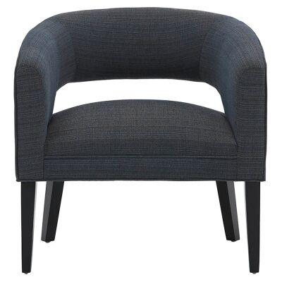 Moana Fabric Armchair, Dark Blue