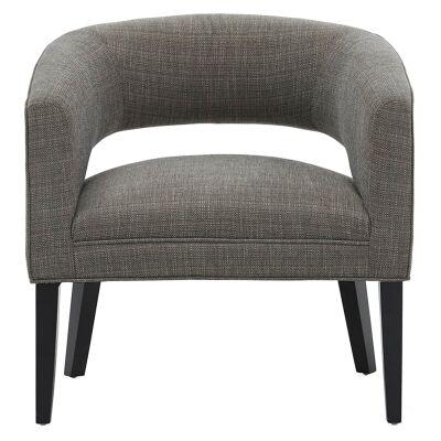 Moana Fabric Armchair, Grey