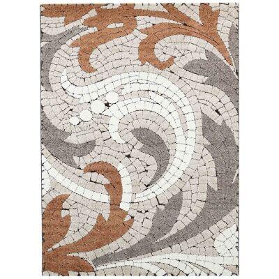 Momo Mosaic Motif Textured Modern Rug, 200x290cm, Orange