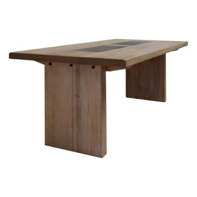 Enrifield Mountain Ash Timber Dining Table, Tile Inlaid Top, 240cm