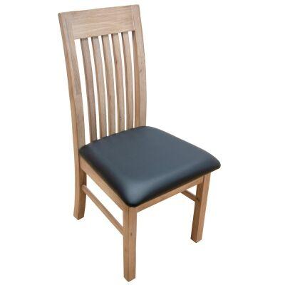Enrifield Mountain Ash Timber Dining Chair, PU Seat