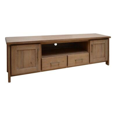 Enrifield Mountain Ash Timber 2 Door 2 Drawer TV Unit, 188cm