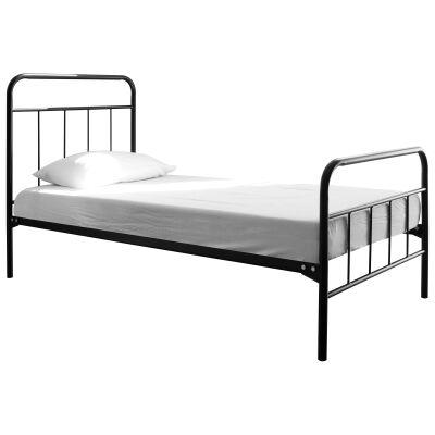 Tubeco Mossman Australian Made Metal Bed, Double, Gloss Black