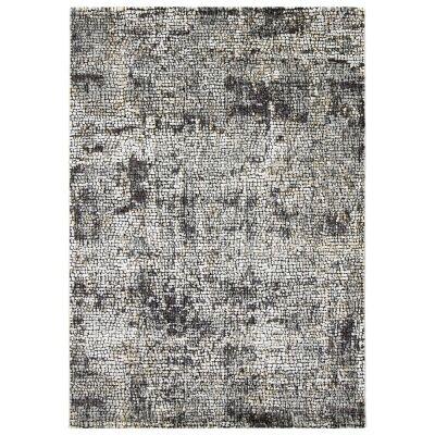 Roman Kajetan Mosaic Modern Rug, 330x240cm, Dark Grey / Ivory