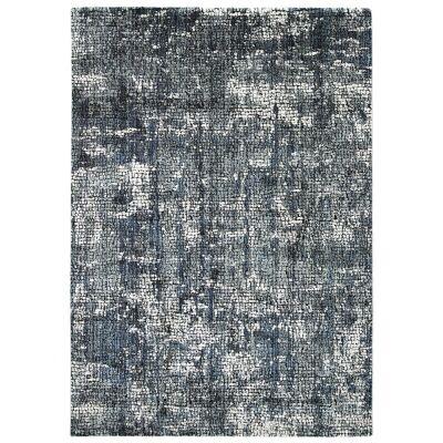 Roman Kajetan Mosaic Modern Rug, 330x240cm, Grey / Blue