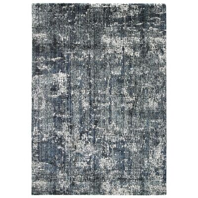 Roman Kajetan Mosaic Modern Rug, 290x200cm, Grey / Blue