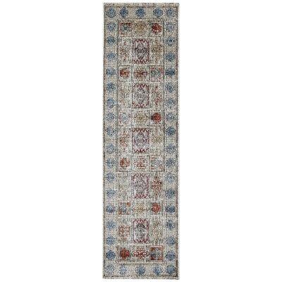 Roman Betram Mosaic Modern Runner Rug, 300x80cm