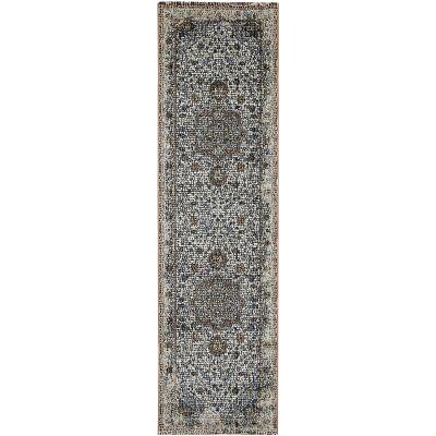 Roman Avi Mosaic Modern Runner Rug, 400x80cm